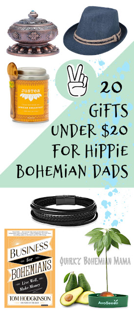 Gifts Under $20 for Hippie Fathers day gifts under $20. Bohemian Dads. Gift for hippie men. What to buy the hippie in your life. Fun hippie gifts. Gifts for hipster men. Best christmas gift for a hippie. Men's bohemian style. Gifts for eccentric men. #fathersday #fathersdaygifts #boho #bohemian