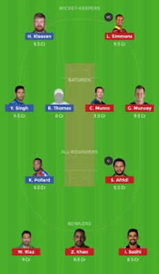 TOR vs BRW dream 11 team | BRW vs TOR