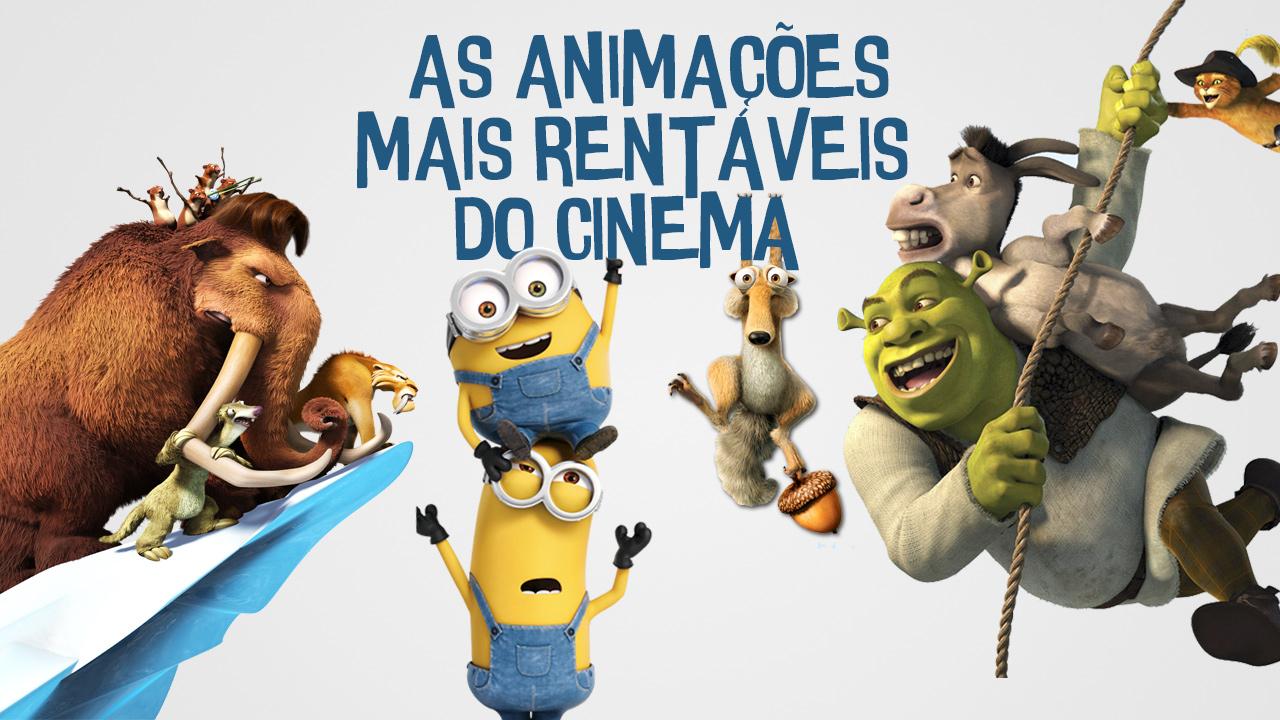 Animações de maior arrecadação bilheteria do cinema