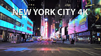 New York City 4K - Night Drive