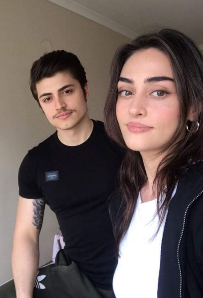 Esra Bilgic Beautiful Clicks with her Brother Ali Bilgic