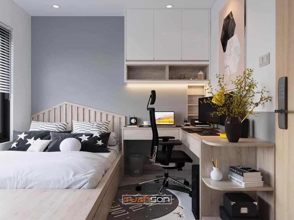 Thiết kế nội thất phòng ngủ căn hộ Vinhomes Smart City Tây Mỗ