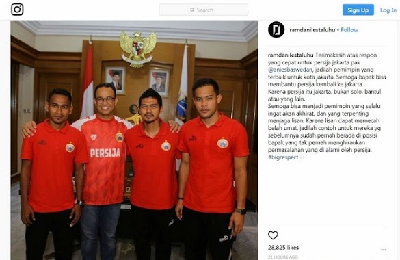 Berkat Anies Persija Boleh Pakai SUGBK, Pemain Persija Sampaikan Rasa Syukur dengan Ungkapan Menohok