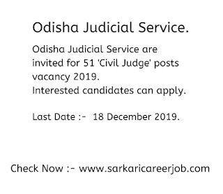 Odisha Public service commission 51 civil judge post examination