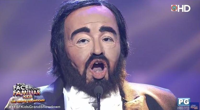 Elha Nympha impersonates Luciano Pavarotti