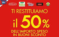 Logo Bennet ti restituisce il 50% in buoni sconto