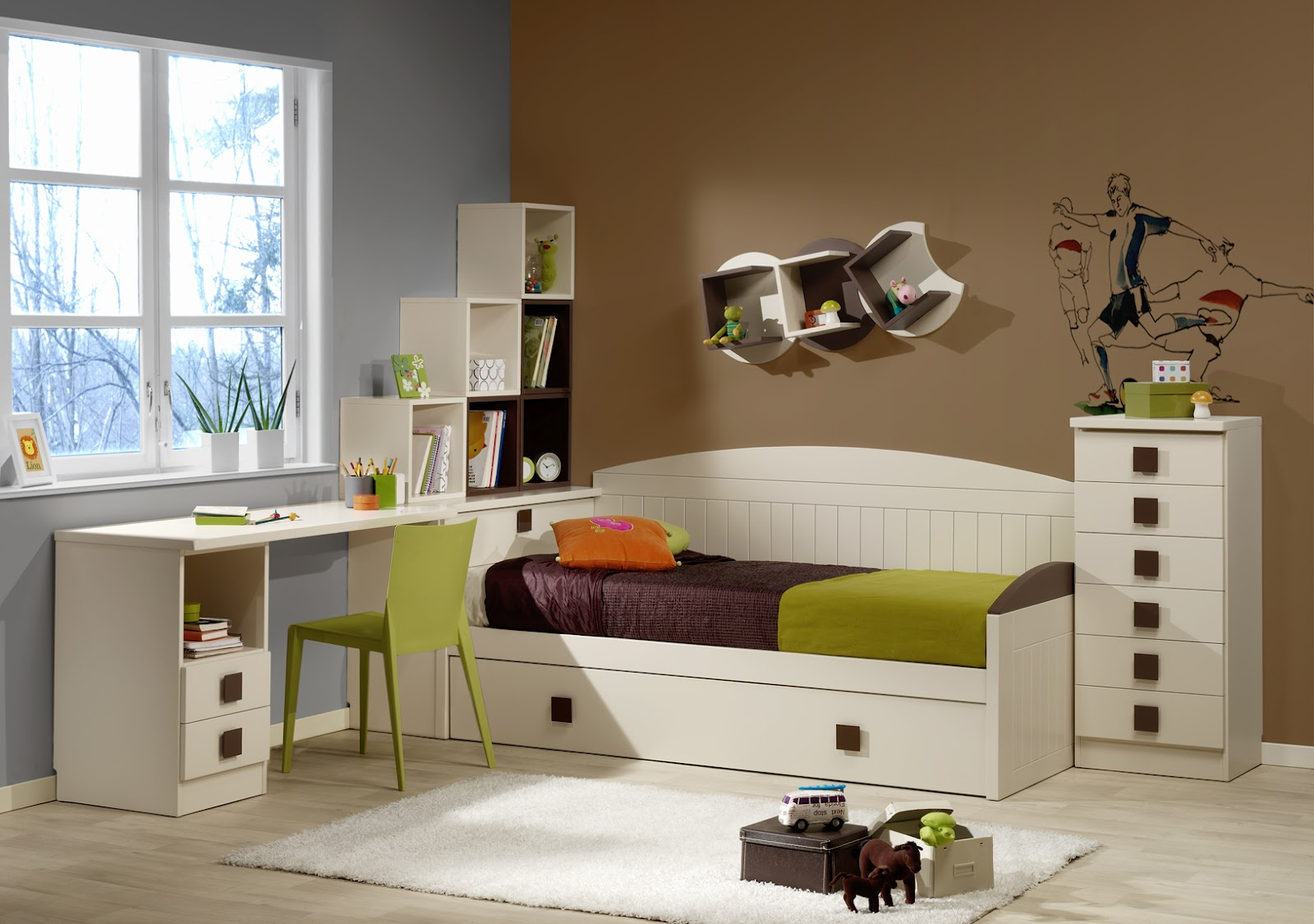 Dormitorios habitaciones juveniles e infantiles lacadas - Mesas para dormitorio ...