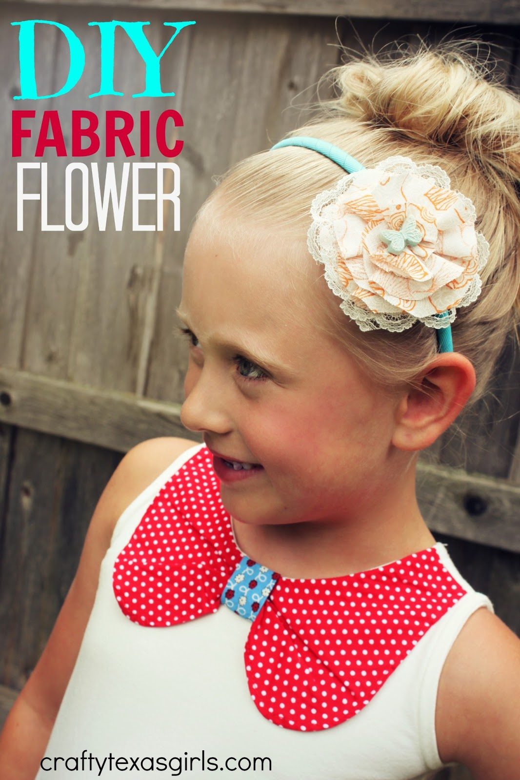 Crafty Texas Girls Crafty How To Fabric Flower Headband