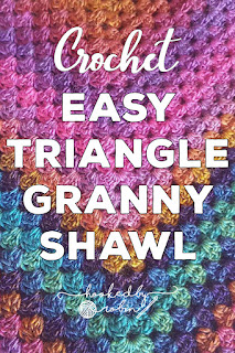 How to Crochet a Granny Triangle Shawl
