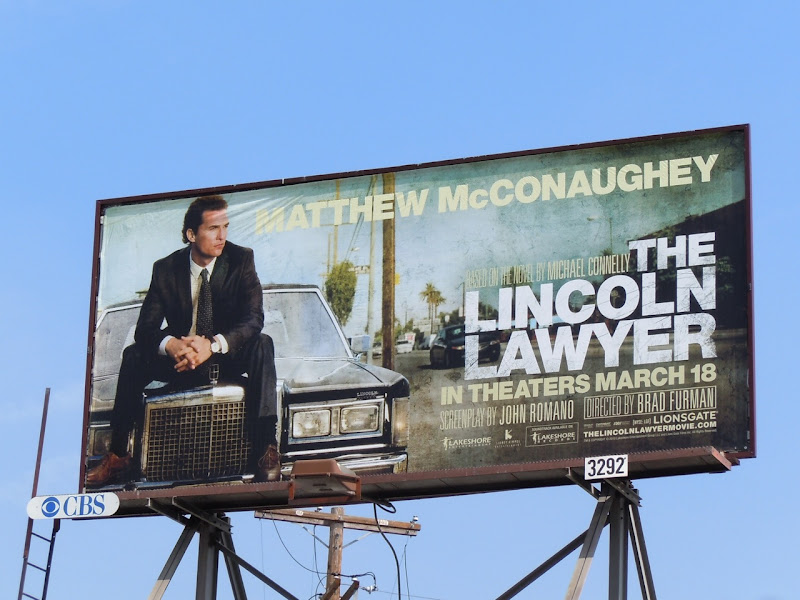 Lincoln Lawyer movie billboard