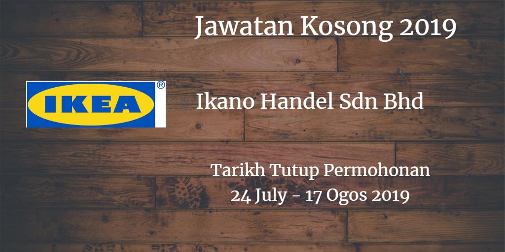 Jawatan Kosong IKEA 24 July - 17 Ogos 2019