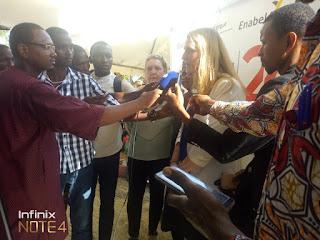 Delphine Perremans chargée des affaires ambassade du Belgique en Guinée