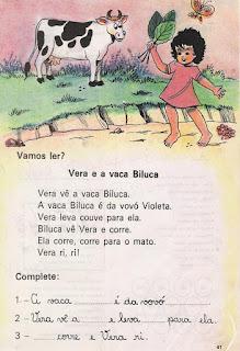 Leitura Vera e a vaca Biluca