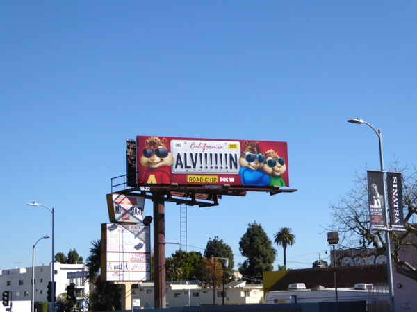 Alvin Road Chip movie billboard