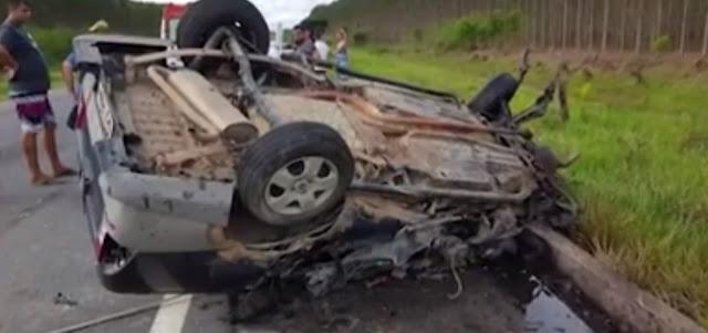 Filho de ex-vereadora de Itamaraju morre em acidente na BR-101