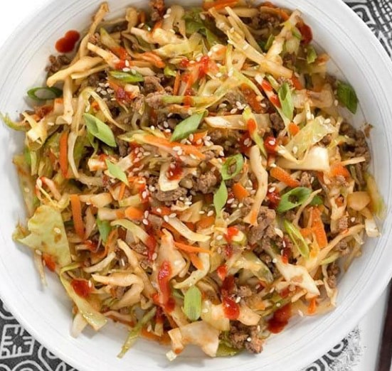 BEEF AND CABBAGE STIR FRY #lowcarb #healthydinner