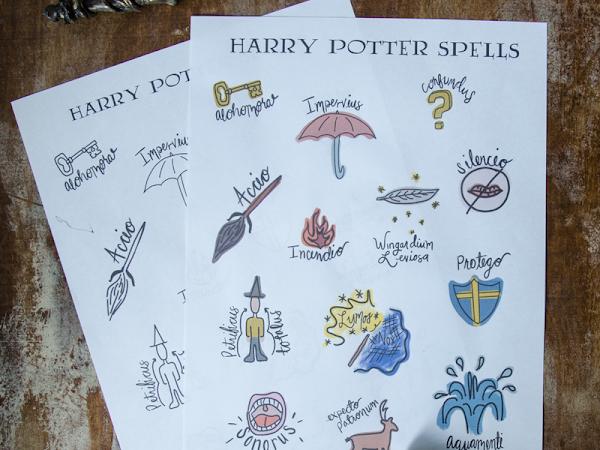 Harry Potter Printable Spells