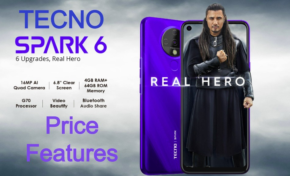 Tecno Spark 6 Price Features Specification in Pakistan 2020-2021