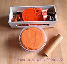 Pumpkin pie playdough invitation to play