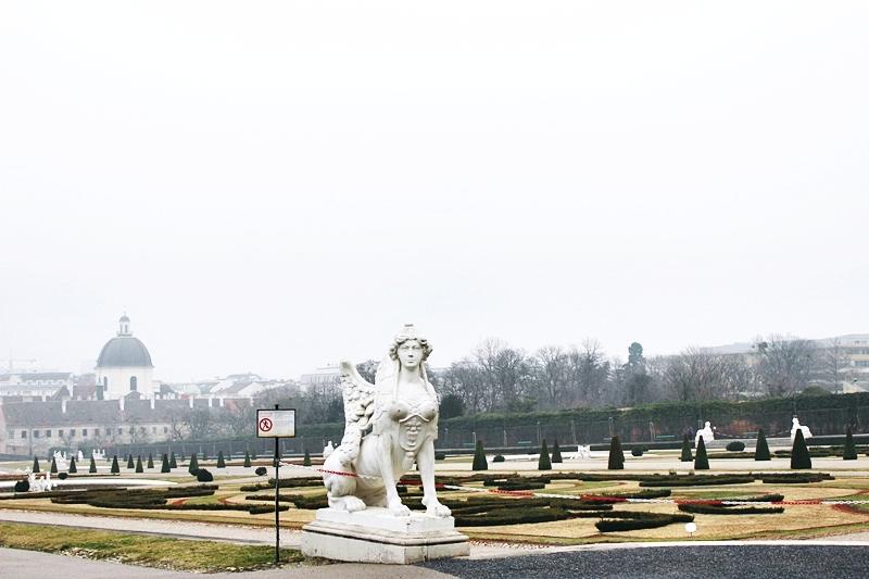 Sphinx sculptures Belvedere Gardens Vienna