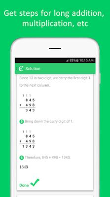 تطبيق Cymath Math Problem Solver لحل المسائل الرياضية