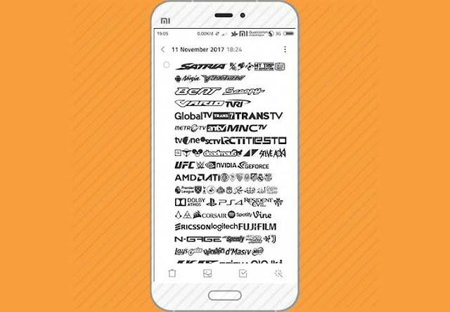 Download Icon Unicode/Logo Operator Full Terlengkap Untuk Xiaomi