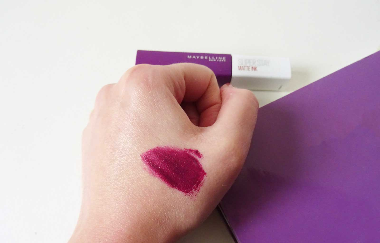 superstay matte ink maybelline believer swatch