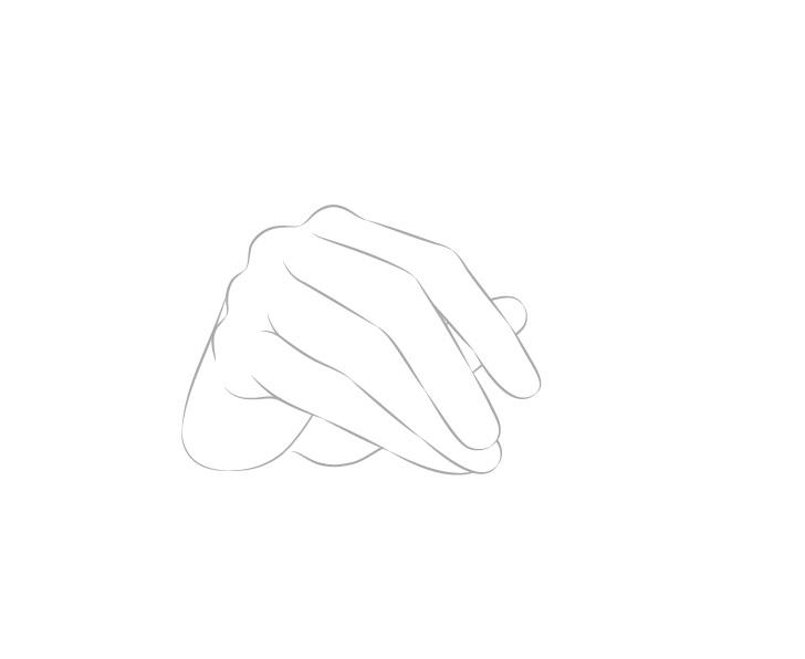Tangan memegang gambar jari sumpit