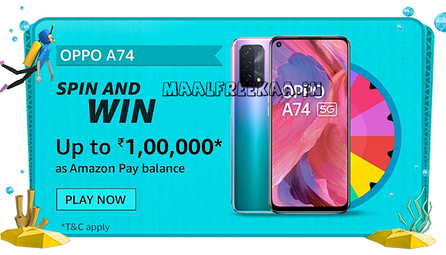Prime Day Spin And Win OPPO A74