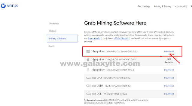 Cara Mining Verus di Windows PC
