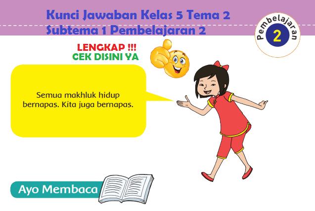 Lengkap Kunci Jawaban Kelas 5 Tema 2 Subtema 1 Pembelajaran 2 Jawaban Tematik Terbaru