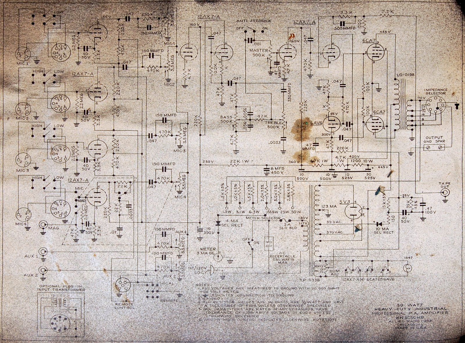 6l6 Tube Amplifier Schematic | Advance Wiring Diagrams - 5