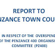 Penzance 400 over spend report