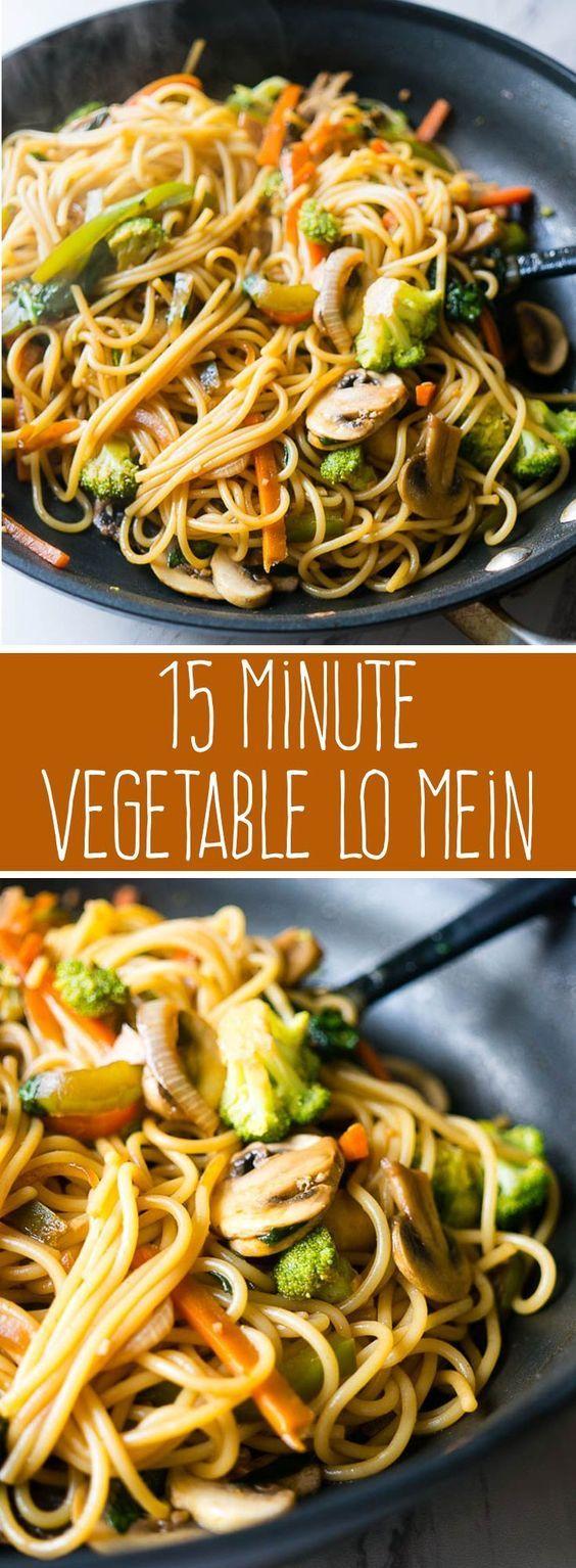 15 Minute Vegetable Lo Mein #vegan #veganrecipes #veggies #vegetarianrecipes #vegetable #lomein