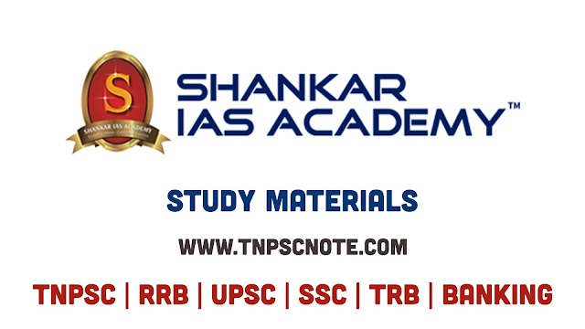 Shankar IAS TNPSC NOTES Tamil