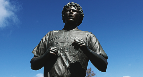 terry fox mile 0 trans canada highway victoria british columbia