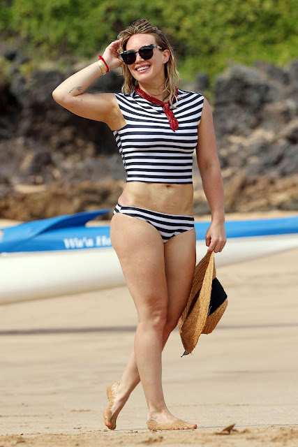 Hilary Duff in a Bikini on The Beach in Malibu