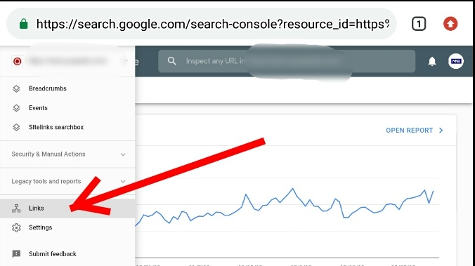 How to check website backlinks using google webmaster tools (Google Search Console) Step 4