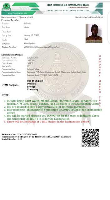 2020/2021 JAMB Exam Slip Reprinting Date & Guidelines [UPDATED]