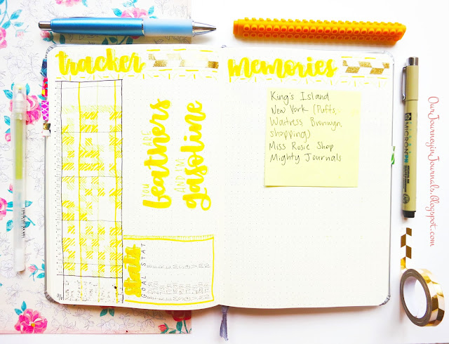 July habit tracker and monthly memories spreads