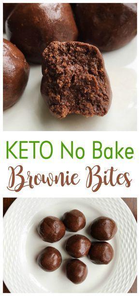 KETO NO BAKE BROWNIE BITES