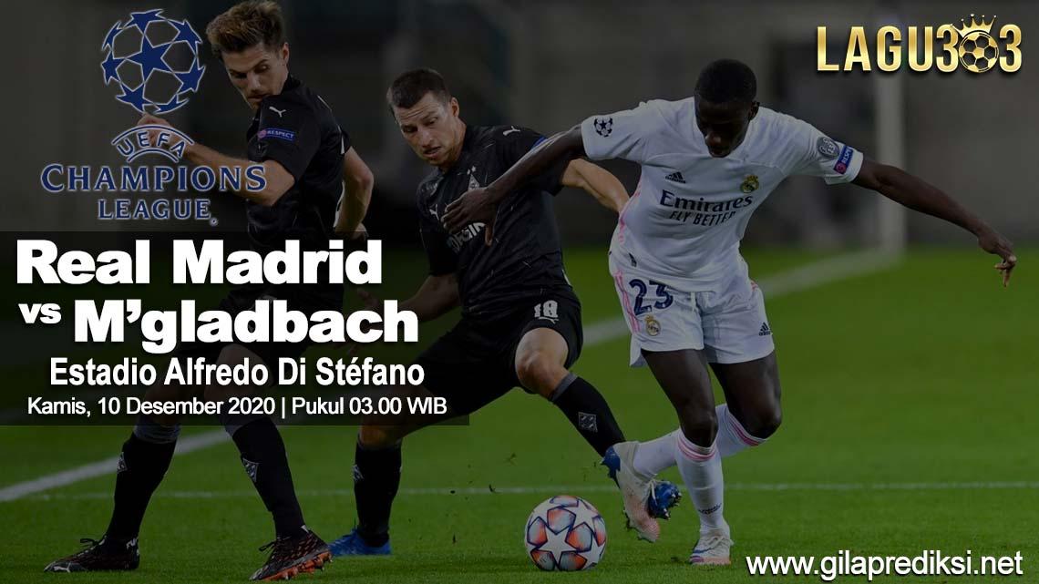 Prediksi Real Madrid vs Borussia M'gladbach 10 Desember 2020 pukul 03.00 WIB