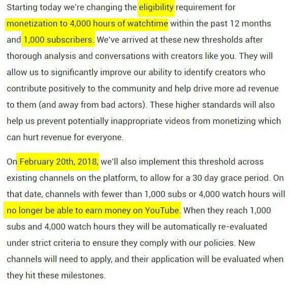 Sistem monetisasi terbaru youtube bikin youtuber pemula panik