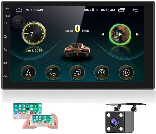 Hikity Double Din Android Car Stereo with GPS