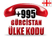 +995 Gürcistan ülke telefon kodu