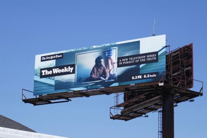 NY Times Weekly season 1 billboard
