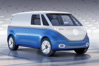Volkswagen ID Buzz Cargo Concept (2018 Rendering) Front Side