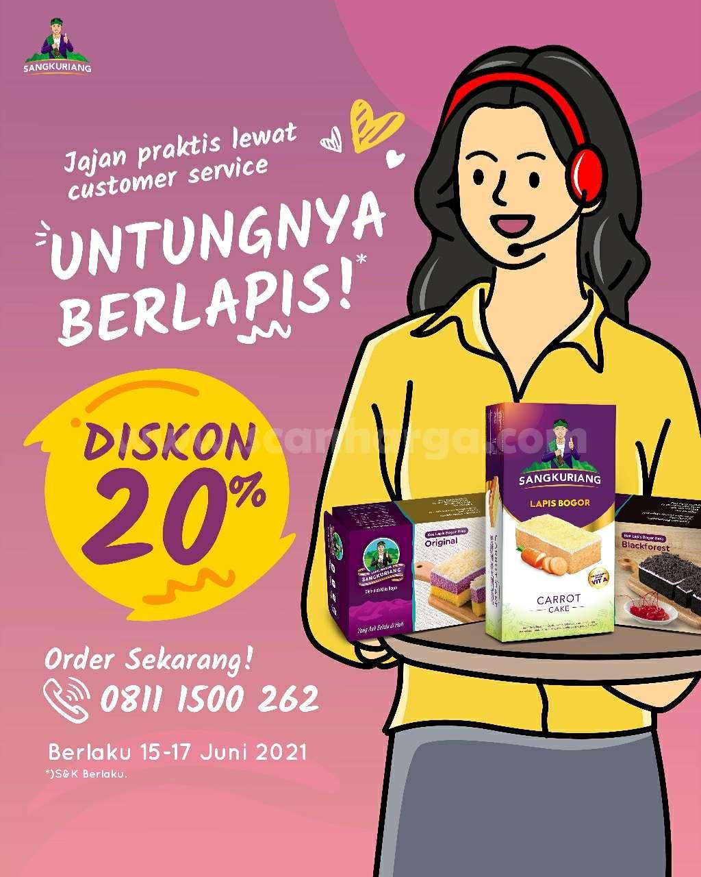 Promo Lapis Bogor Diskon 20% untuk Blackforest & Carrot Cake