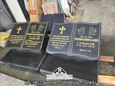 Batu Nisan Kristen Model Buku | Produk Batu Nisan Tulungagung Terlengkap
