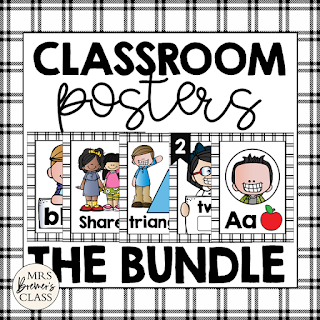 Educational Classroom Posters featuring Melonheadz Kidlettes! Makes a sweet bulletin board display and a great visual reference for those needing the extra learning support. #classroomsetup #classroom #classroomdecor #kindergarten #1stgrade #backtoschool